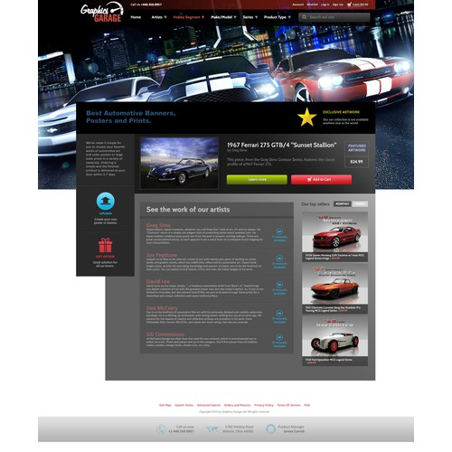 Help Graphics Garage/www.graphicsgarageohio.com with a new website design
