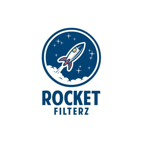 Bold logo concept for Rocket Filterz