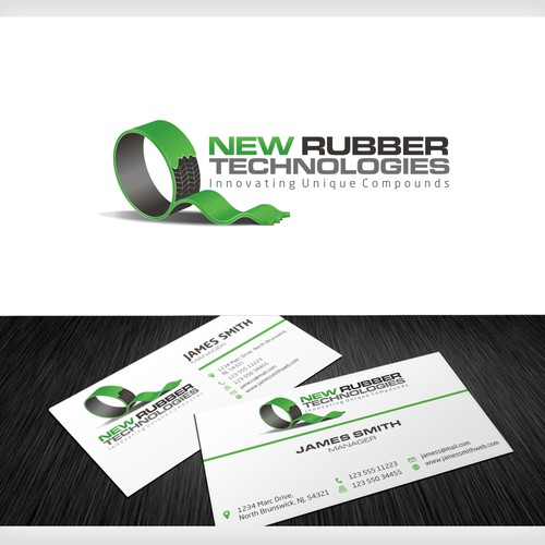 "New logo and business card wanted for New Rubber Technologies or ""NRT"""