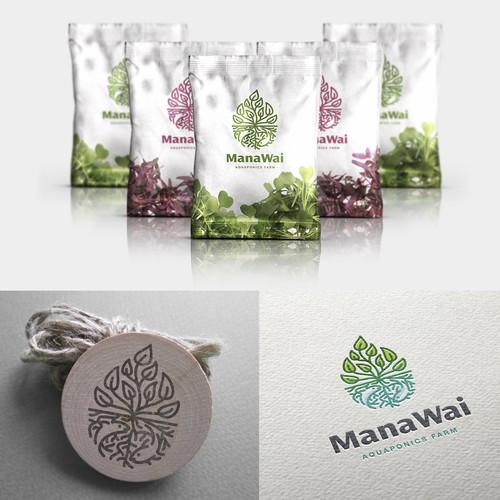 Logo for ManaWai-aquaponics farm