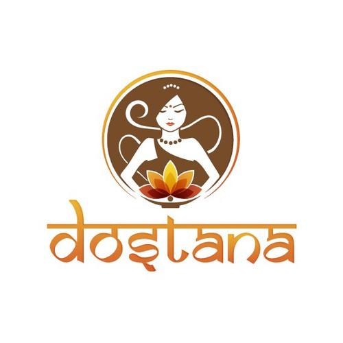 Dostana Indian Food Logo Design