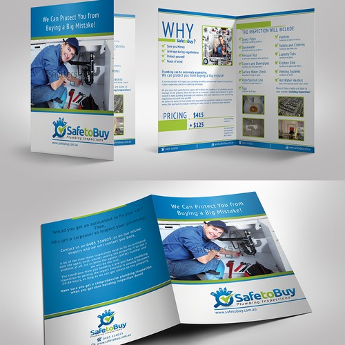 Simple brochure design with potential ongoing design work