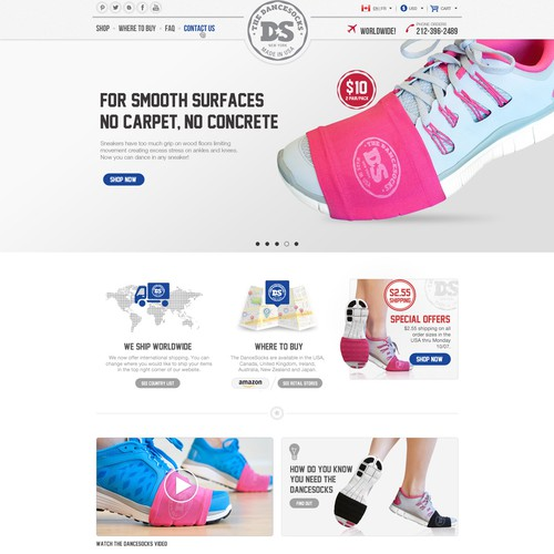 website design for THE DANCESOCKS!