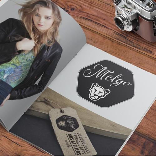 Crée un logo pour une marque de blouson féminin en cuir - domaine : Moto