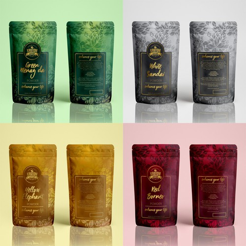 Packaging design for tea powders