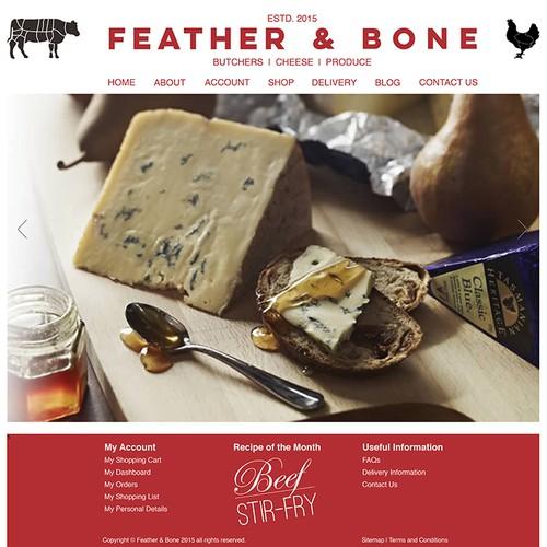 Website Homepage design for High End Online gourmet grocer