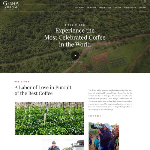 A beautiful website for a Coffee farm in Ethiopia