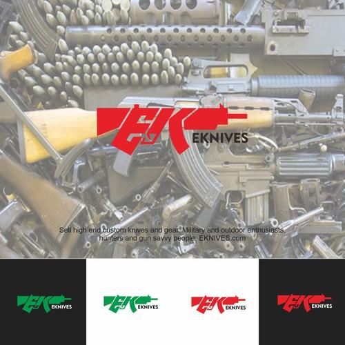 Logo for millitary equipment shop