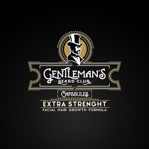 Gentleman's beard club Logo concept