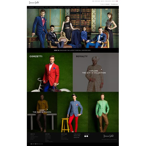 Divan Fashion website design