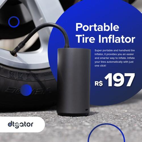 Portable Tire Inflator Social Media Ad