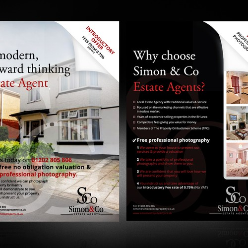 Create a call to action leaflet for an estate agency
