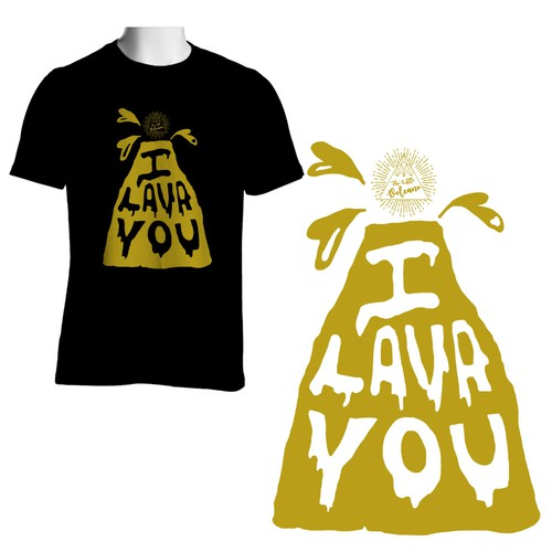 """T-shirt with the melting word """"I Lava You"""""""