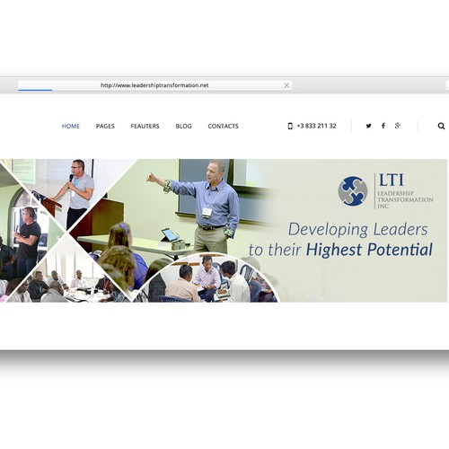 LTI Website Banner Design