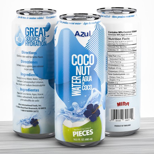 Coconut water Can design