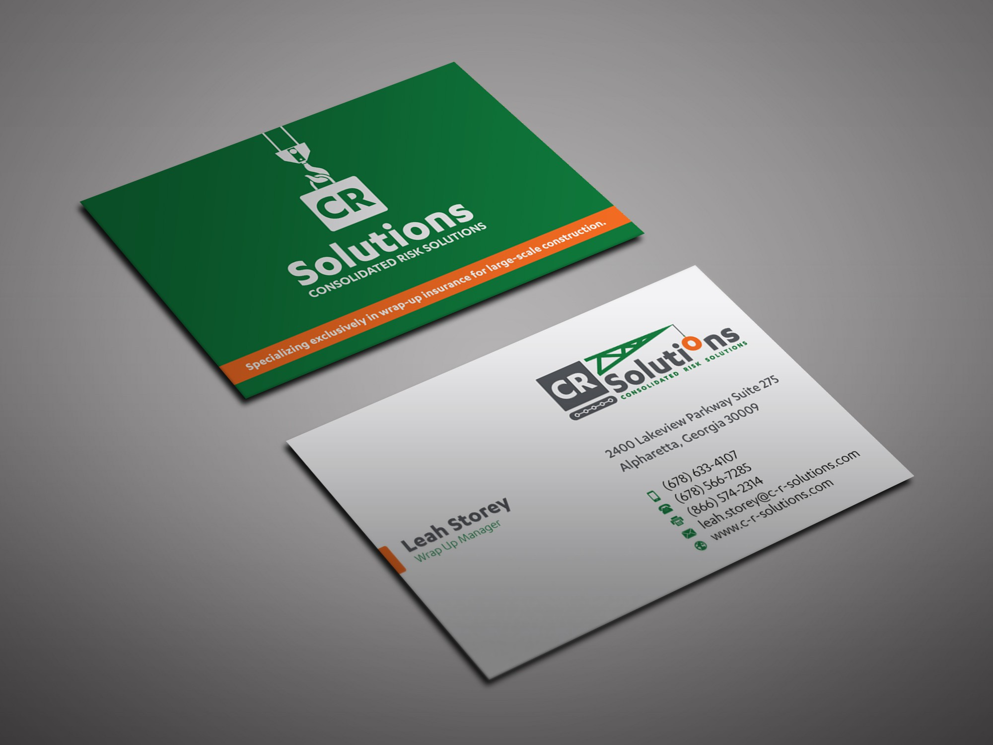 Create a stylish business card and letterhead for company serving construction industry