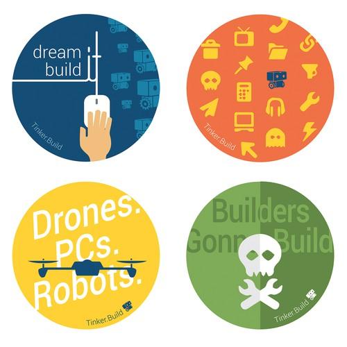 Sticker design for startup