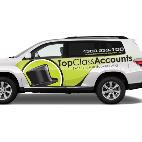 Create a vehicle wrap for Australia's leading privately owned bookkeeping company