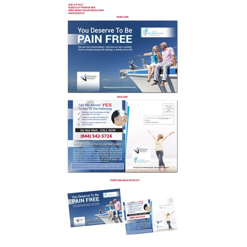 postcard for pain clinic