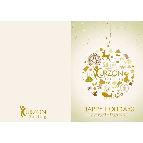 Create a modern holiday card for clients