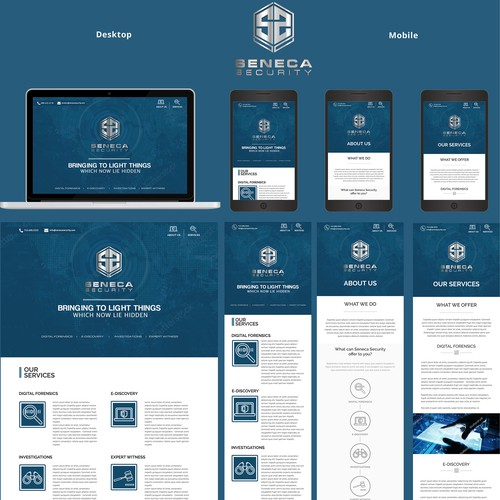 Wordpress theme for a digital forensics company