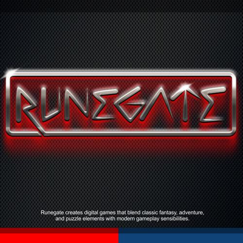 """Create a high fantasy runic logo for Runegate games""."