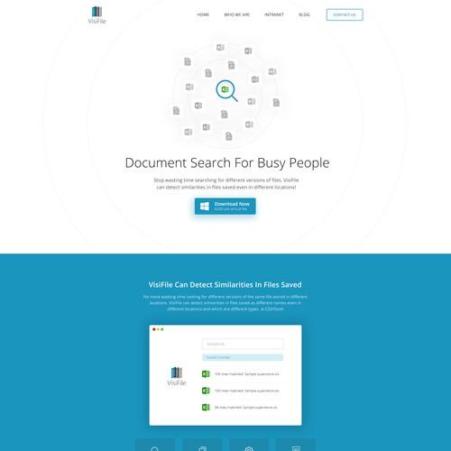 Visifile Landing Page