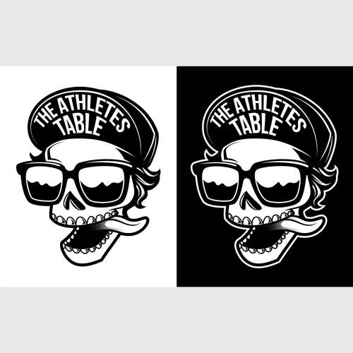 Black & White Mascot/Character  Logo