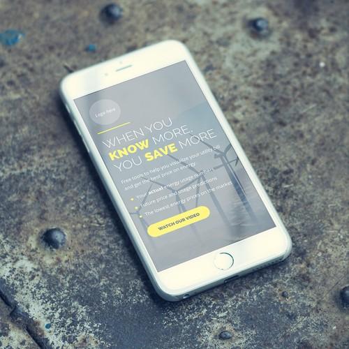 Energy website mobile