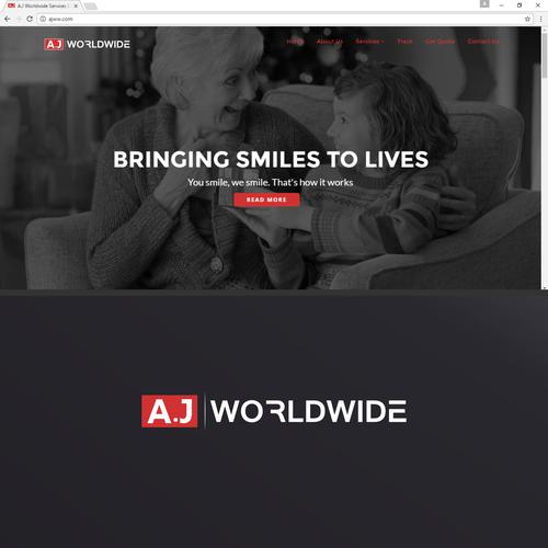 Bold logo design for AJ company