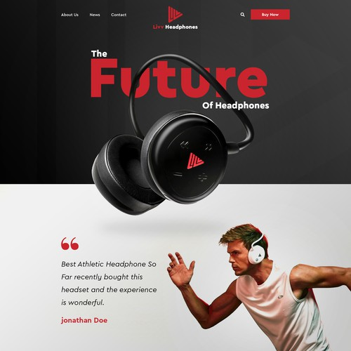 Athletic Head Phone Web Page