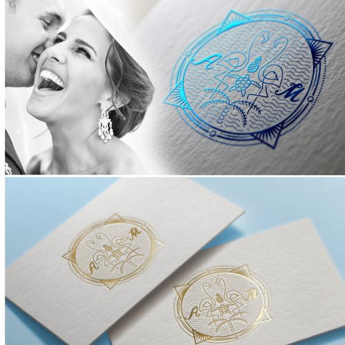 logo wedding family crest