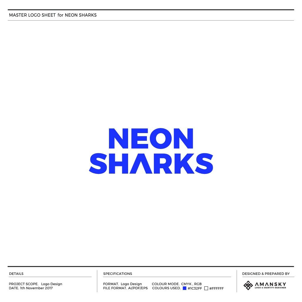 New Pop Band NEON SHARKS needs logo