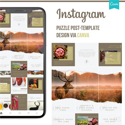 Primal Meats Instagram Post Template Design