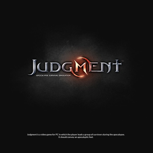 """""""Judgment"""" game logo (rejected in final)"""
