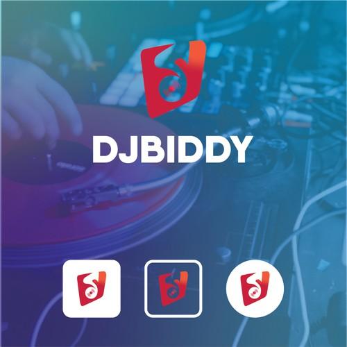 DJBIDDY logo design for a dj app