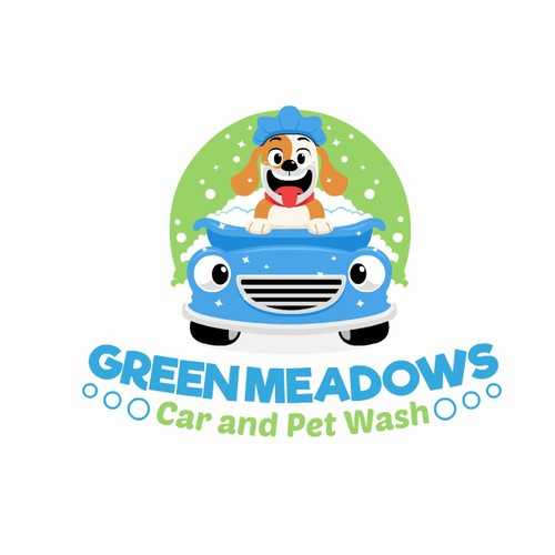 Fun Logo for Pet and Car wash