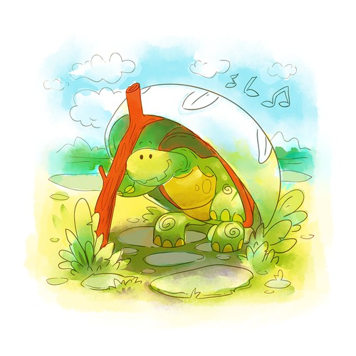 Turtle illustration...