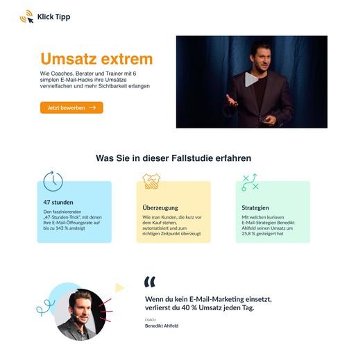 Website for marketing automation platform