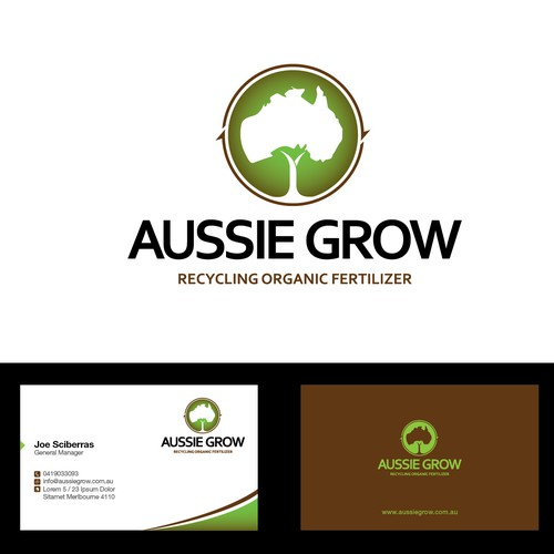 create a standout design for AUSSIE GROW