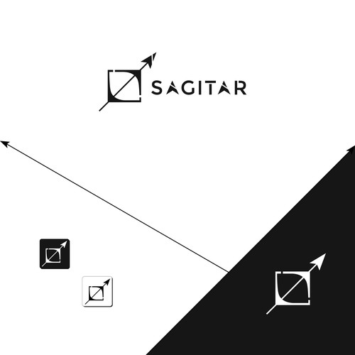 Minimalist Clean Abstract logo concept for Sagitar