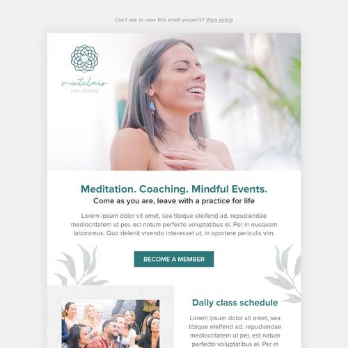 Montclair Zen Studio Email design