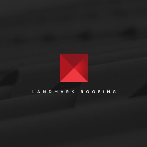 Elegant logo design for roofing company