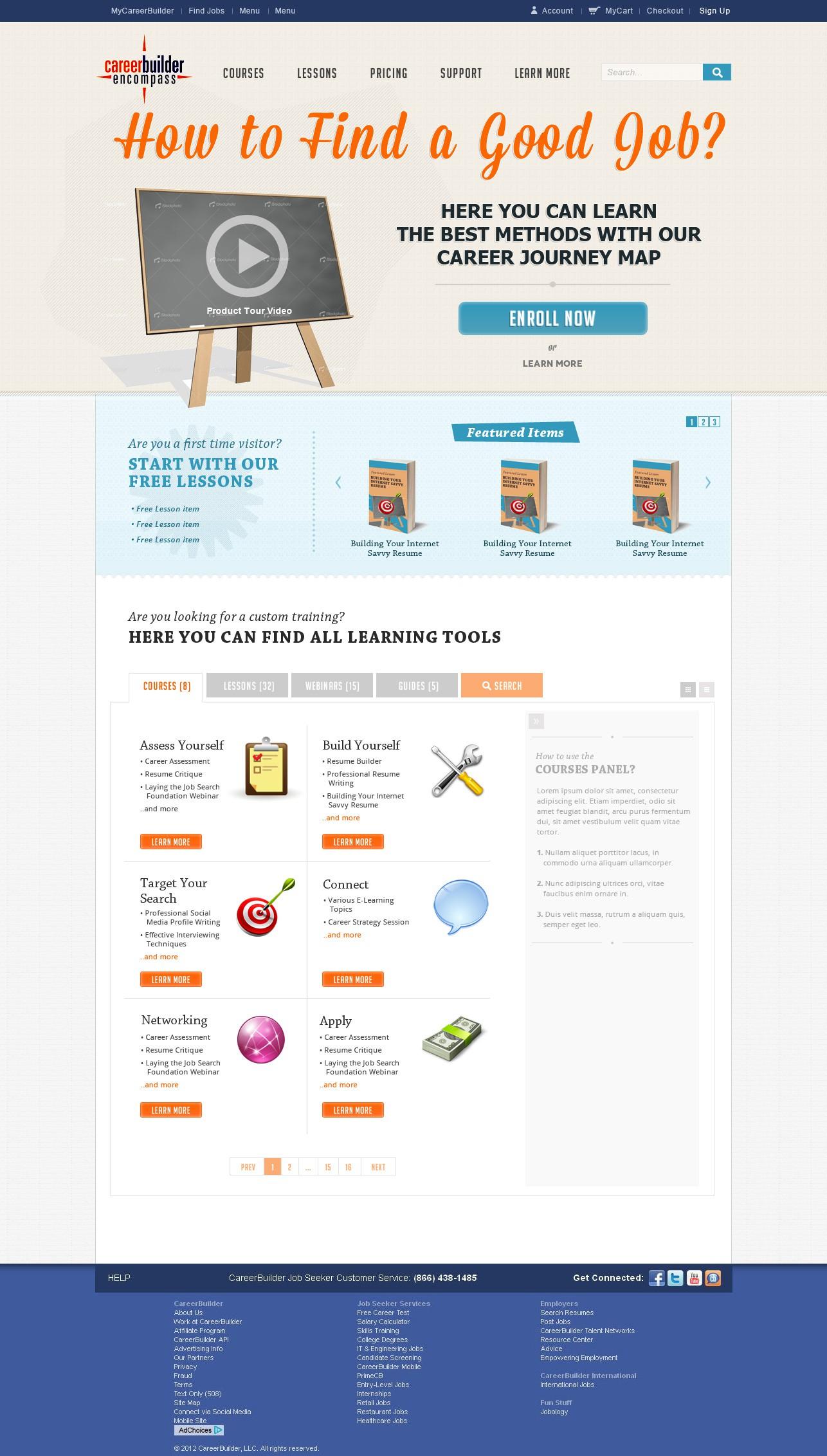 CareerBuilder.com-website design for Job Search Training