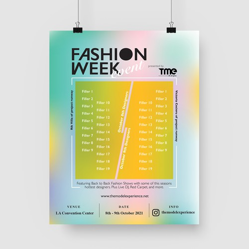 Fashion Week Event Poster