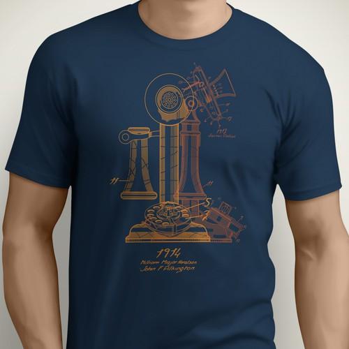 Telephone patent tee