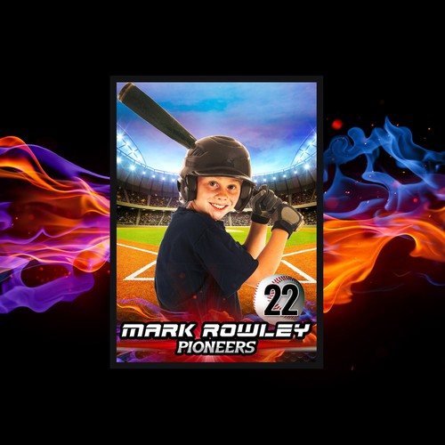 Photography design for a baseball pro player