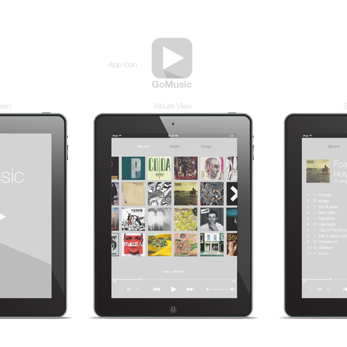 Google Music Client App needs a new iOS 7 design