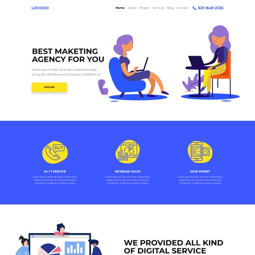 Digital Marketing Landing Page