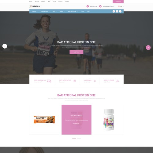 Design a new website for BariatricPal Store!